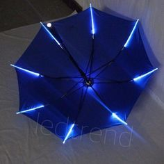 New Arrival Rib Light up Blade Runner Style LED Umbrella with Flashlight (adult)