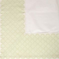 #White & Beige #Tablecloth - Drape those tables in style with a classic white tablecloth featuring a subtle beige border design.