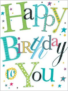 Extra Large Cards » 5494 » Happy Birthday to You - Abacus Cards - Greetings Cards, Gift Wrap & Stationery
