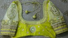 Pattu blouse with net hands maggam work 91 9866583602 whatsapp no 7702919644
