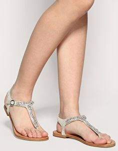 Pretty, cheap wedding sandals