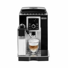 DeLonghi Magnifica S. Bean-to-Cup Espresso and Automatic Cappuccino Maker. Compact fully automatic espresso and cappuccino machine. Cappuccino Maker, Cappuccino Machine, Cappuccino Coffee, Espresso Machine, Coffee Shop, Coffee Brewer, Coffee Coffee, High End Coffee Makers, Modern Coffee Makers