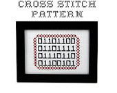 DIY  - LOVE in Binary - .pdf Original Cross Stitch Pattern - Instant Download