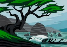 Art Portfolio: Browse through over 600 works of art by Oregon artist Erik Abel. Ocean Art, Animal Art, Tiki faces, Works on paper, Surf Art and digital illustrations. Art And Illustration, Surf Drawing, Kunst Portfolio, Posca, Surf Art, Ocean Art, Beach Art, Landscape Art, Graphic Art