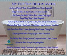 My favorite detox baths!  Need Some Essential Oils? Purchase Here: http://bit.ly/rebeccasteam