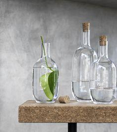 SINNERLIG fles | #IKEA #IKEAnl #design #IlseCrawford #nieuw #SINNERLIG #collectie #kurk #karaf