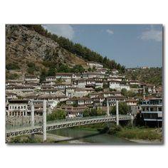 Postcard Berat bridge, Albania Carte Postale