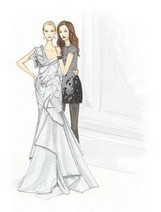 Gossip Girl creative project. Illustration.Original.Files: Gossip Girl Project by Lisa Nishimura | Draw A Dot.