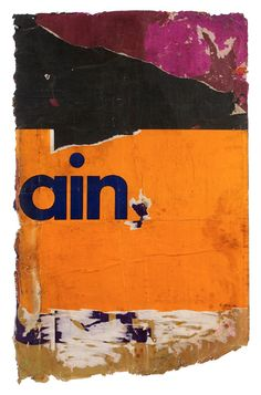 Raymond Hains - Hain - Affiches lacérées - 101 x 64 cm - 1973 - Galerie W - Galerie d'Art contemporain à Paris #galeriew #gallery #w #gallery w #raymond-hains @galeriew