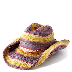 Rose Crocheted Cowboy Hat - Mar y Sol