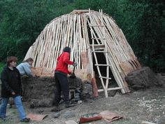 a Goahti in the making.  These Sami turf homes are sustainable and warm to live in during cold, cold winters.  Similar to the Wetu or the Wicciup of Native American origin.
