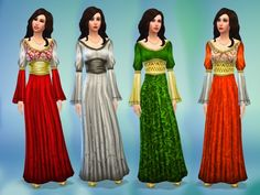 Medieval Times dress by nikova at Mod The Sims