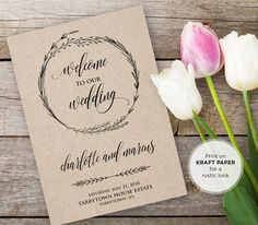 Hey, I found this really awesome Etsy listing at https://www.etsy.com/listing/293928323/wedding-program-template-instant