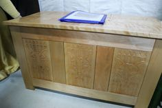Carved panel chest - Lady Morag Taylor - Kingdom A&S 2017