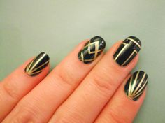 DIY how to do Gatsby inspired nails on Wardrobe Conversations