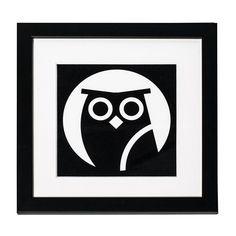 Framed Mini Print - Night Tube Owl