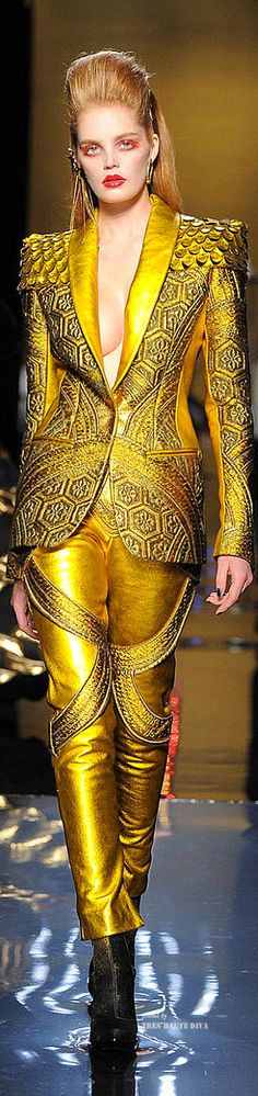 Jean Paul Gaultier Haute Couture Fall 2014......a bit too much together but would rock it separately