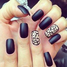 Here you go #matte lovers! Another matte #black #nail #design. #nails #manicure #pedicure #nailart #naildesign #irvine #newportbeach #cali