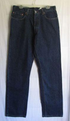 Vtg Levis Jeans Men Dry Goods 559 Relaxed Fit Straight Size 32x32 Dark W33 L32 #Levis #559RelaxedFitStraightLeg