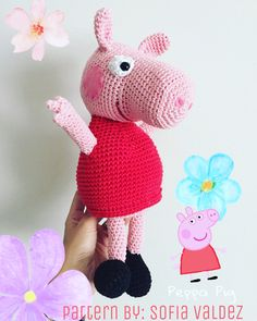 Peppa Pig Free Crochet Pattern Follow @valdernastore
