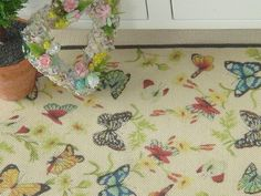 Dollhouse butterfly  rug. 1:12 Dollhouse by ANABELAMINIATURES