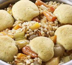 Vegetable stew with herby dumplings recipe - Recipes - BBC Good Food