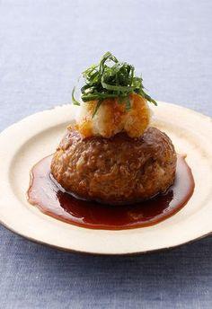 Plump Japanese style hamburger