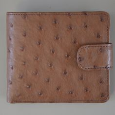 Ostrich Leather. Ostrix Small Mens Wallet With Tab | GoodiesHub.com