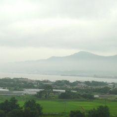 foggy hot day at the lake
