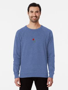 """Red rose"" Lightweight Sweatshirt by Geanina5698 