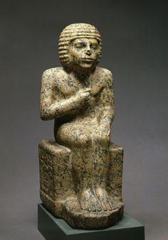Seated figure of the domain administrator Metjen. 4 Dynasty. © Foto: Ägyptisches Museum und Papyrussammlung der Staatlichen Museen zu Berlin - Preußischer Kulturbesitz