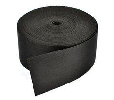Cosmos ® 2 Inches Wide 10 Yards Black Nylon Heavy Webbing Strap with Cosmos Fastening Strap Cosmos