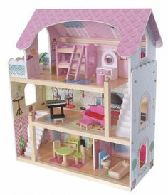 Dřevěný domeček pro panenky Pohádková rezidence