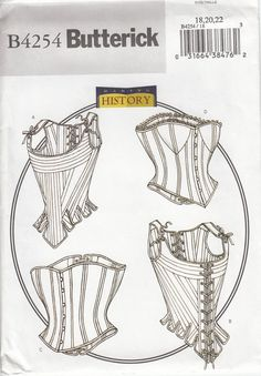 Butterick 4254 Victorian Corset Stays Underpinnings by CedarSewing