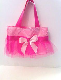Mini Hot Pink Satin Tutu Tote Bag by tavatotes on Etsy, $18.00