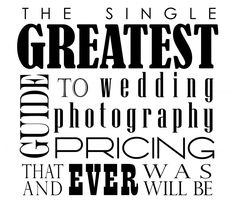 Free e-book on pricing wedding photography