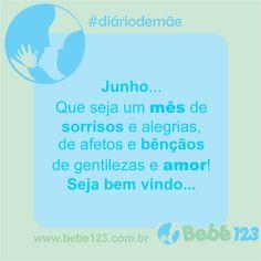 Bom dia, boa semana e um mês abençoado ♥ #Bebê123 #diáriodemãe