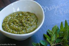 Oregano Pesto Recipe at www.ahealthylifeforme.com