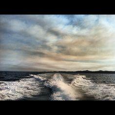 Smoke on sky  Waves on sea