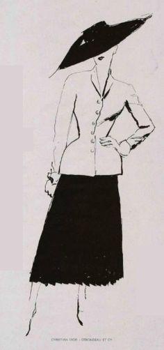 1947 - Christian Dior 'Bar' suit