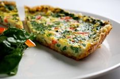 Ten-Minute Pan Quiche-interesting use of day old bread/crumbs for quick crust