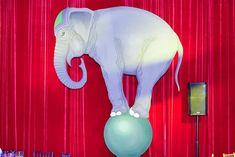 Circus elephant wall decoration idea