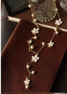Les Nereides Daisy Pearl Necklace-Gorgeous and 25% off! Only 1 left!