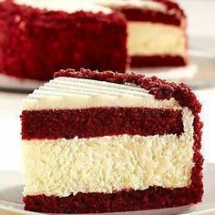 Ridiculously delicious looking! Red Velvet Cheesecake Recipe. Jess & Lexi! :)