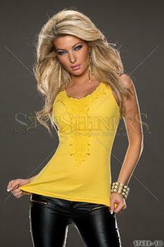 Top Fancy Escape Yellow
