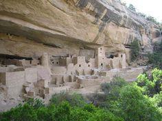 Cliff Palace, Mesa Verde. Ancient abode of the Hisatsinom.