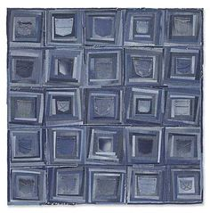 Blue jean pockets quilt by Shantell Pikel. Rustic Quilts, Log Cabin Quilts, Log Cabins, Denim Patchwork, Denim Quilts, Kind Of Blue, Denim Ideas, Denim Crafts, Gift Suggestions