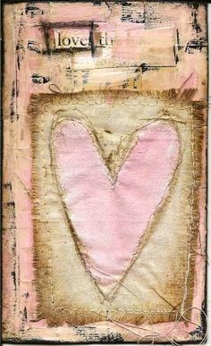 "Pinning Prompt #10: Whether you wield a hook or needle, show us something you crafted with fiber or fabric. A page in my ""French inspired Shabby Chic"" journal."