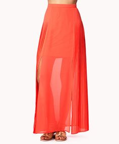 #Forever21                #Skirt                    #Accordion #Pleated #Georgette #Maxi #Skirt         Accordion Pleated Georgette Maxi Skirt                                        http://www.seapai.com/product.aspx?PID=18768