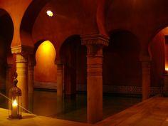 Un baño árabe en Al Andalus, Granada.